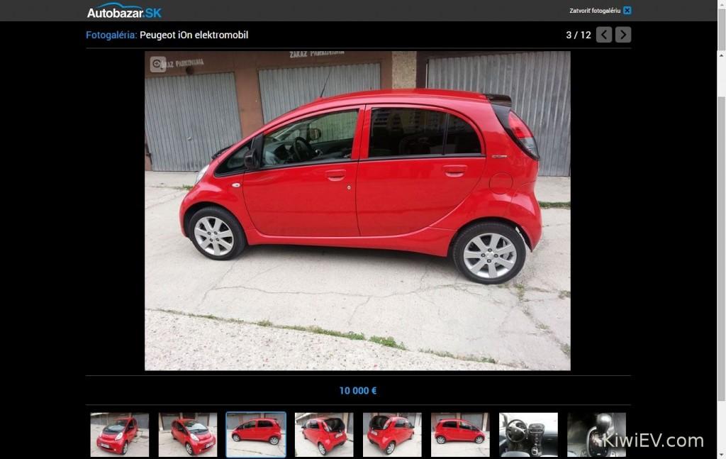 Peugeot iOn for Sale in Slovakia - elektricke auto na predaj na Slovensko