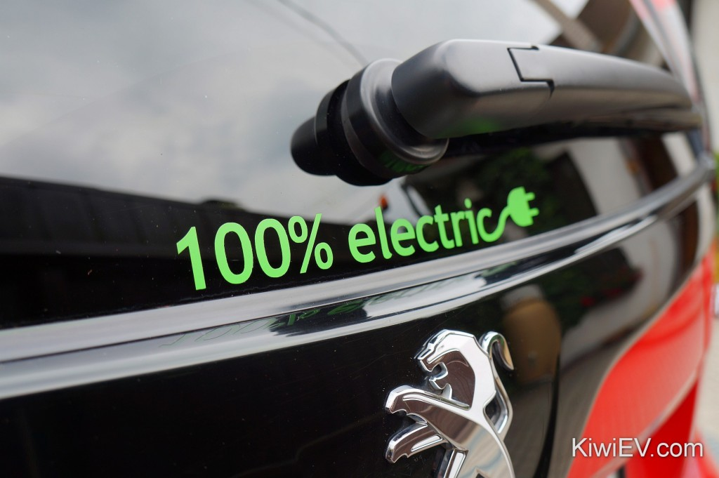 100 Electric Car Stickers