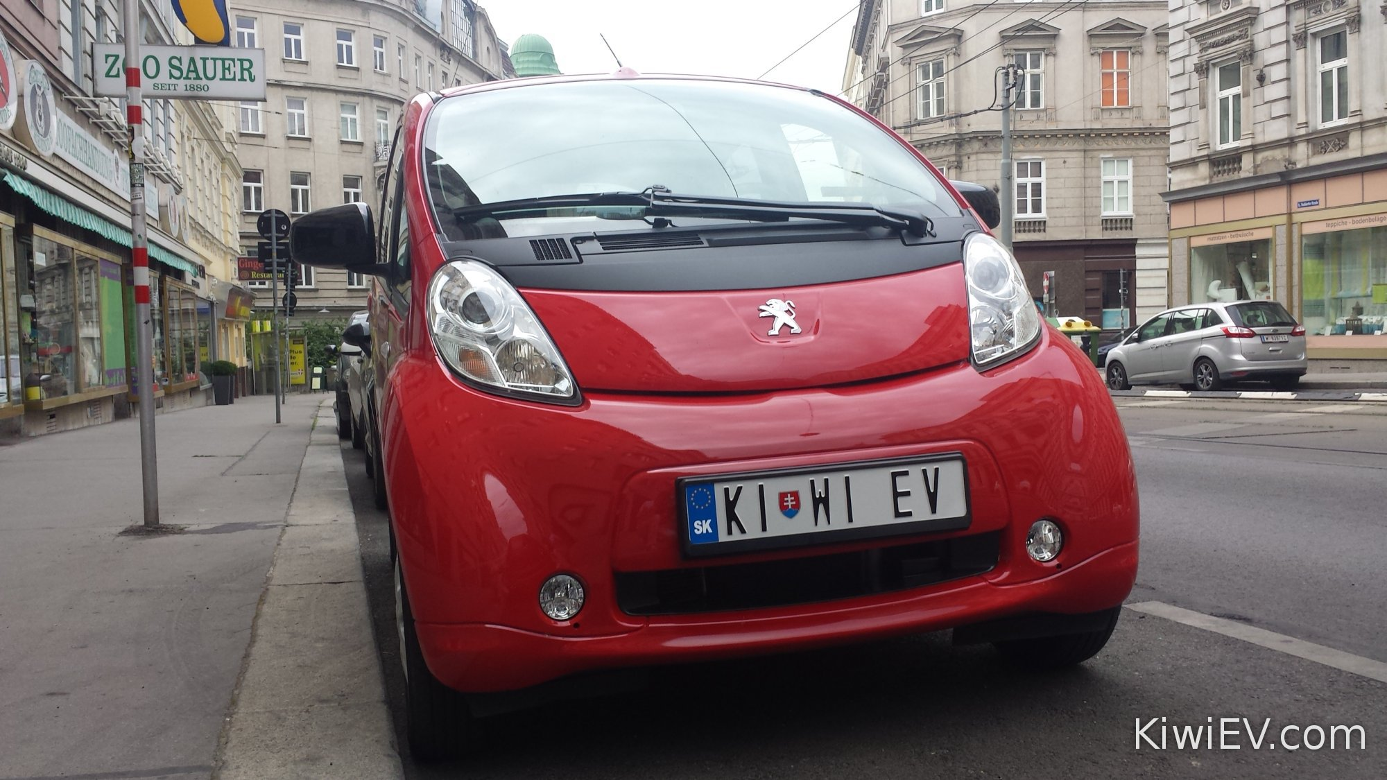 Electric car in Vienna