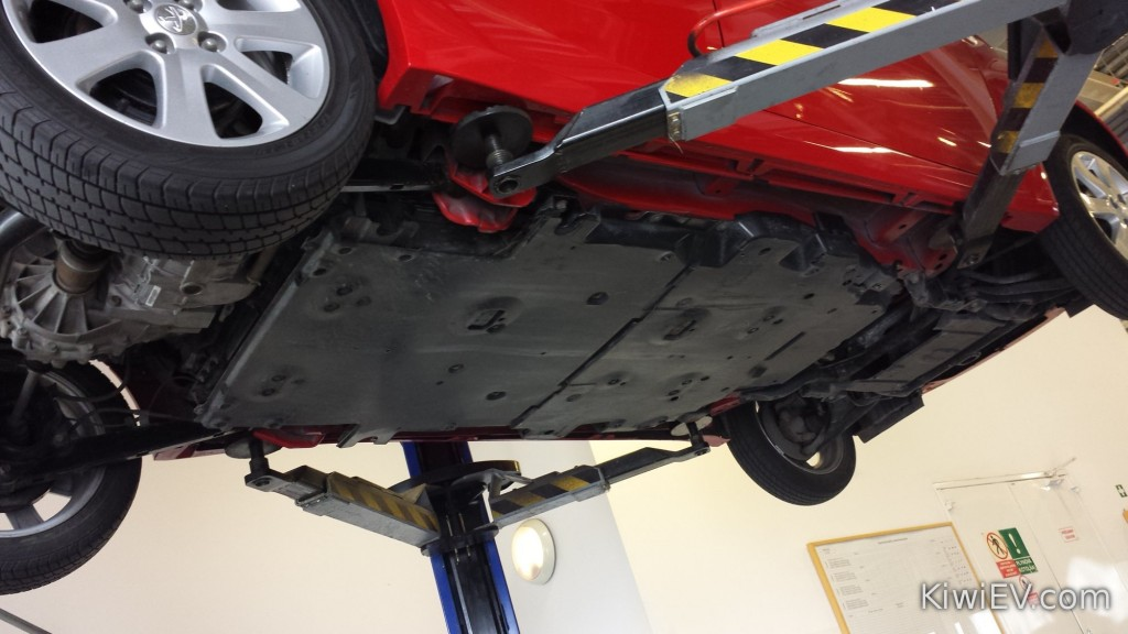 The old battery cover was replaced for free as part of a factory recall.