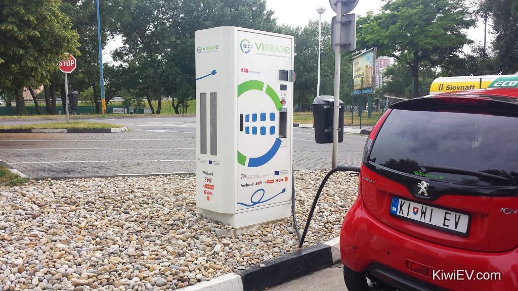 VIBRATe nabíjacie stanice pre elektromobily - Bratislava