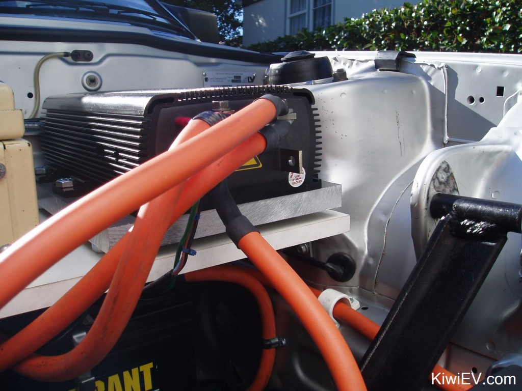 The Original Kiwi Ev Electric Car Conversion Home Wiring For An Controller On Its Aluminium Heatsink