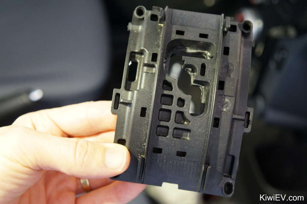 The gear selector plate in the Peugeot iOn / Citroen C-Zero.