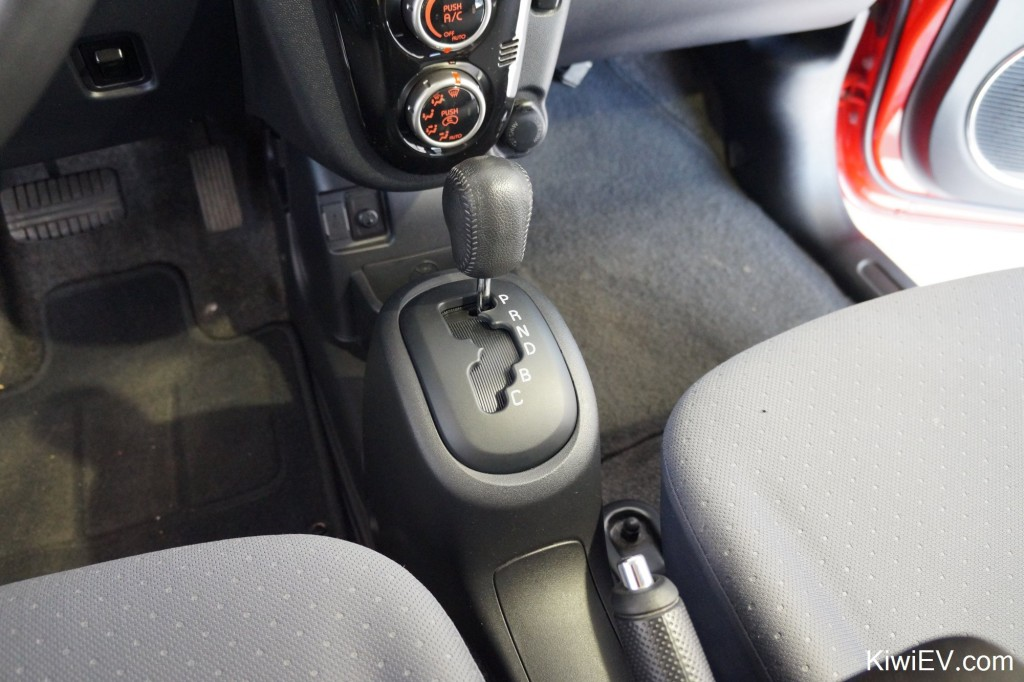 Wow! A Mitsubishi iMiEV gear shifting panel in a Peugeot iOn!