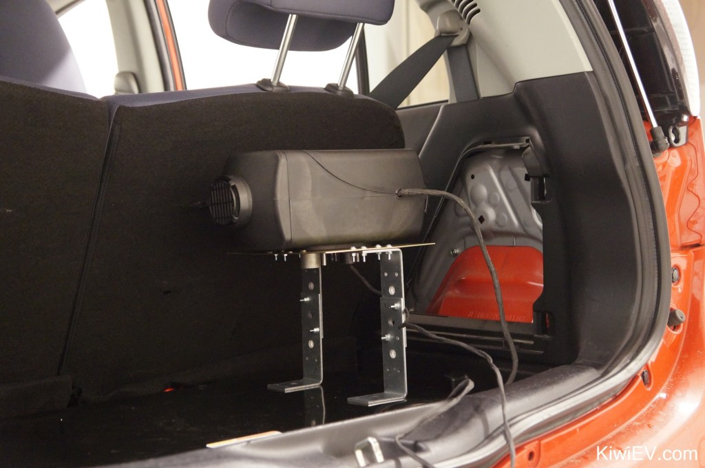 diesel parking heater in the trunk