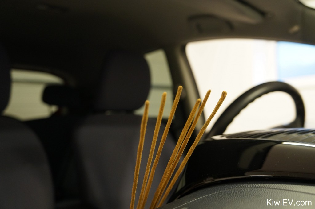 incense sticks in the car