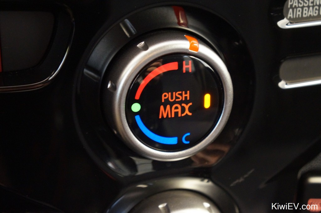electric car heater button