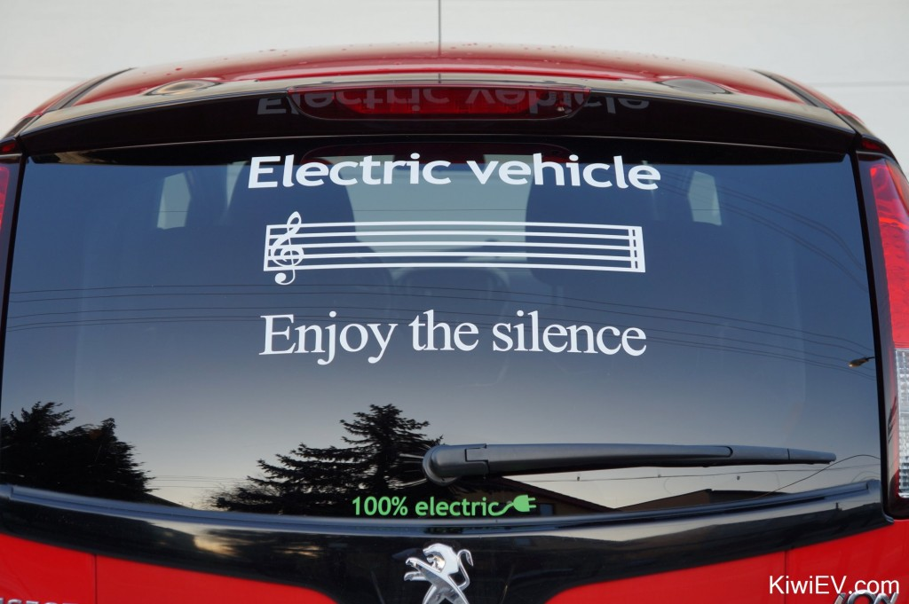 Enjoy the silence - electric vehicle sticker