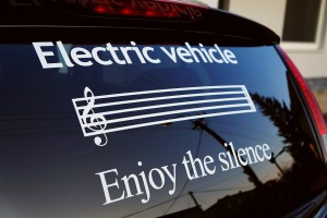 electric car - enjoy the silence sticker