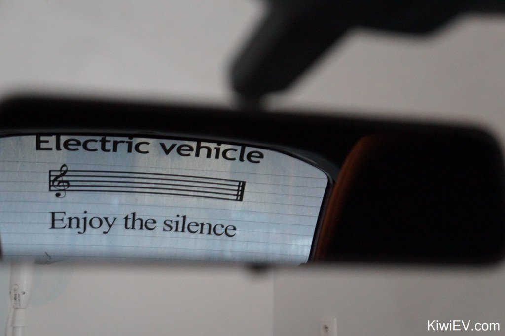 electric car window sticker