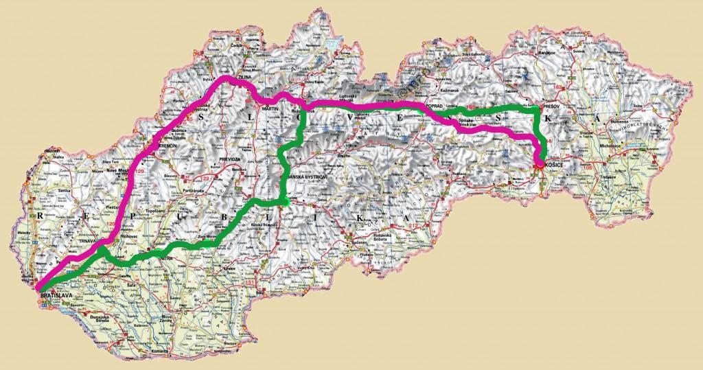 Kiwi EV train race Slovakia